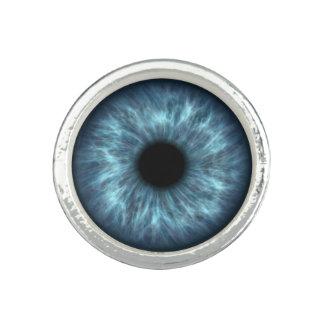 Blue Human Eye Ring