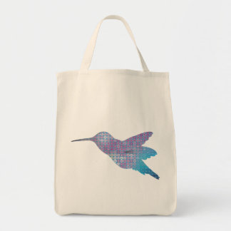 Blue Hummingbird Canvas Bag