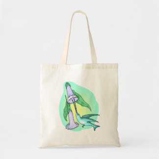 Blue Hummingbird Canvas Bags