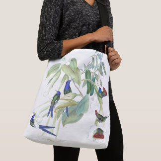 Blue Hummingbird Birds Wildlife Animals Tote Bag
