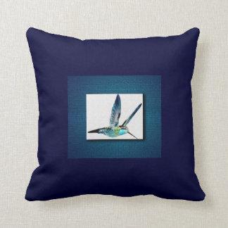Blue Hummingbird Cushion