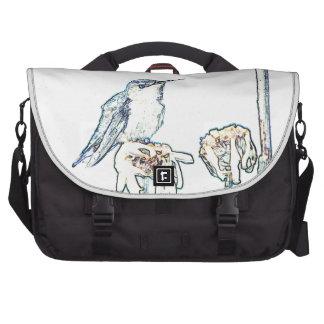 Blue Hummingbird on Shasta Daisy Computer Bag
