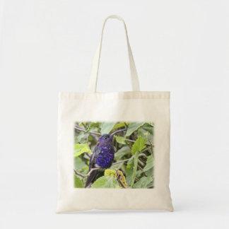 Blue Hummingbird Photo Canvas Bag