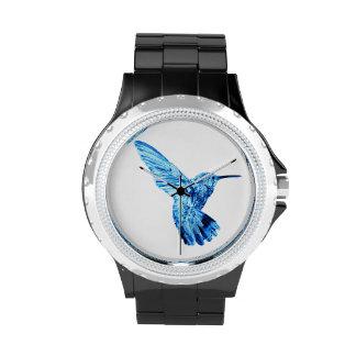 Blue hummingbird women's watch
