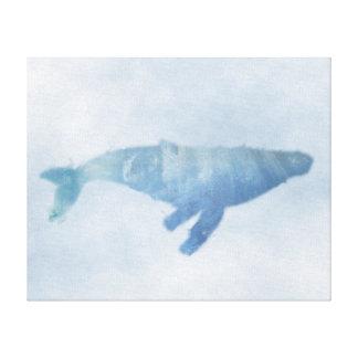 "Blue Humpback Whale Canvas Print (20""x16"")"