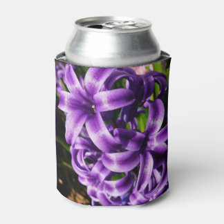Blue Hyacinth II Spring Floral Can Cooler