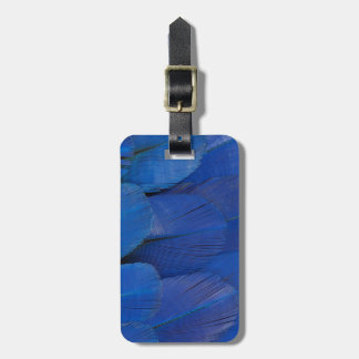 Blue Hyacinth Macaw Feather Design Luggage Tag