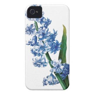 Blue hyacinth vintage illustration iPhone 4 Case-Mate cases