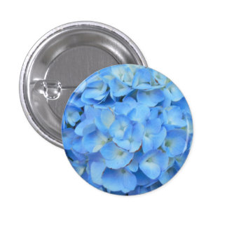 Blue Hydrangea 3 Cm Round Badge