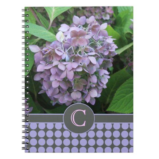 Blue Hydrangea and Polka Dots Notebooks