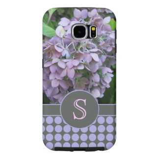 Blue Hydrangea and Polka Dots Samsung Galaxy S6 Cases