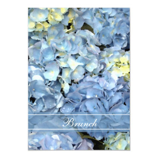 Blue Hydrangea Blossom Post Wedding Brunch Invite