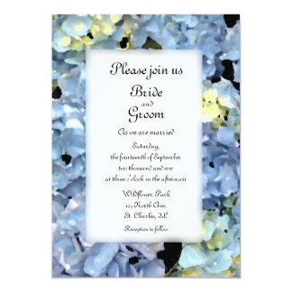 Blue Hydrangea Blossom Wedding 13 Cm X 18 Cm Invitation Card