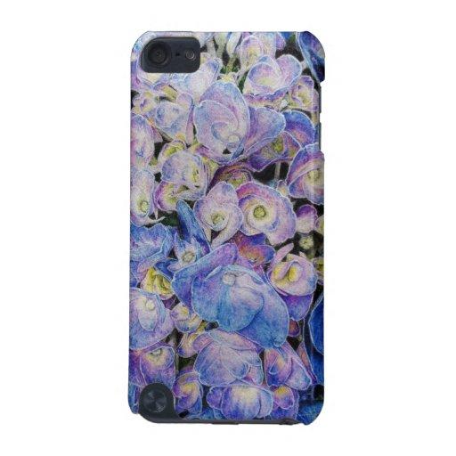 Blue Hydrangea Botanical Art  Ipod Touch case