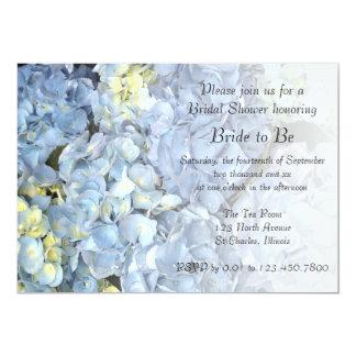 Blue Hydrangea Bridal Shower Invitation