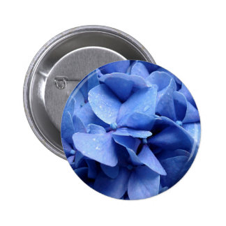 Blue Hydrangea button/badge 6 Cm Round Badge