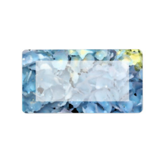 Blue Hydrangea Floral Label