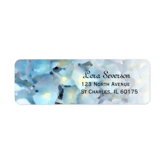 Blue Hydrangea Floral Return Address Return Address Label