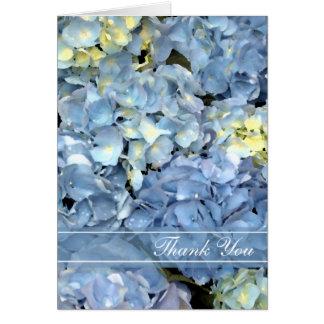 Blue Hydrangea Floral Thank You Card