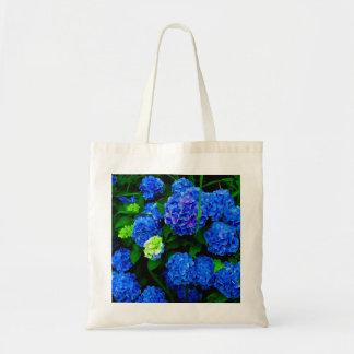 Blue Hydrangea Floral Tote Bag
