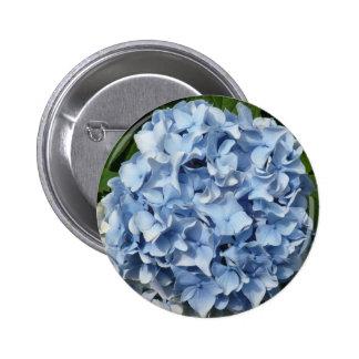 Blue Hydrangea Flower 6 Cm Round Badge
