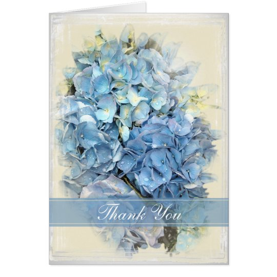 Blue Hydrangea Flower Bridesmaid Thank You Card