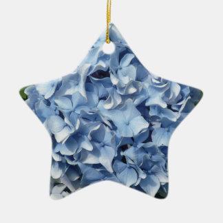 Blue Hydrangea Flower Christmas Ornament