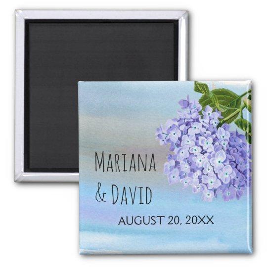 Blue hydrangea flower floral wedding Save the Date