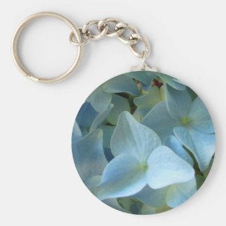 Blue Hydrangea Flower II Keychain