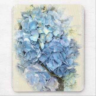 Blue Hydrangea Flower Mouse Mat