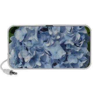 Blue Hydrangea Flower Travelling Speakers
