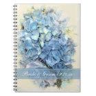 Blue Hydrangea Flower Wedding Notebook