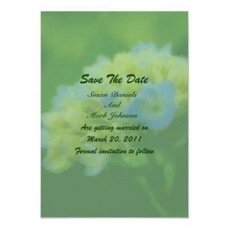 Blue Hydrangea Flower Wedding Save The Date 13 Cm X 18 Cm Invitation Card