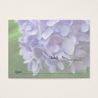 Blue Hydrangea Flower Wedding Table Place Cards