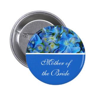blue hydrangea flowers button