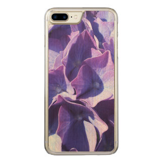Blue Hydrangea Flowers Close Up Photo Carved iPhone 8 Plus/7 Plus Case