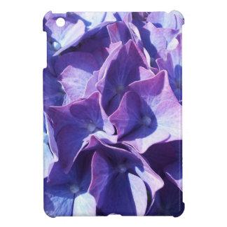 Blue Hydrangea Flowers Close Up Photo Cover For The iPad Mini