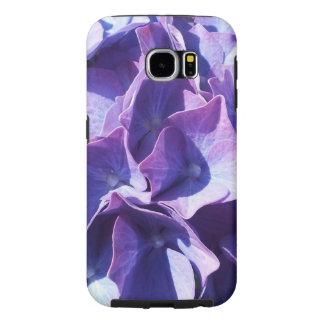 Blue Hydrangea Flowers Close Up Photo Samsung Galaxy S6 Cases