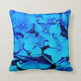 Blue  Hydrangea flowers decor pillow