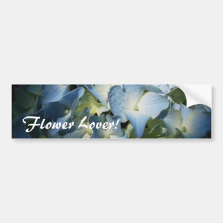 Blue Hydrangea Flowers Floral Flower Photo Bumper Sticker