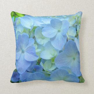 Blue Hydrangea Flowers Pillows thow pillow Floral