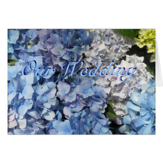 Blue Hydrangea Flowers Wedding Invitation
