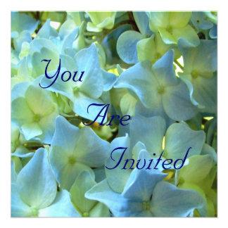 Blue Hydrangea Flowers You Are Invited Personalized Invite
