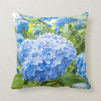 Blue hydrangea, garden pillow