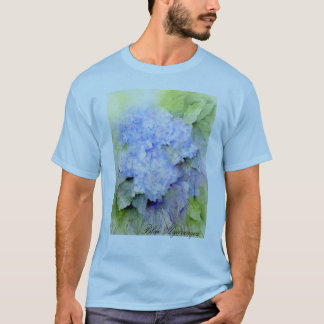 Blue Hydrangea, hydrangea, flowers, watercolor T-Shirt