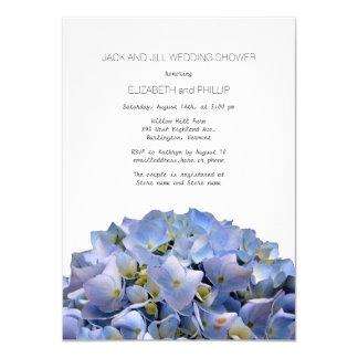 Blue Hydrangea Jack and Jill Wedding Shower 11 Cm X 16 Cm Invitation Card