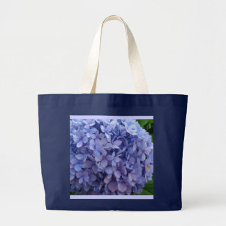 Blue Hydrangea Large Tote Bag