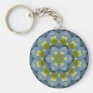 Blue Hydrangea Mandala Image 2 Key Ring
