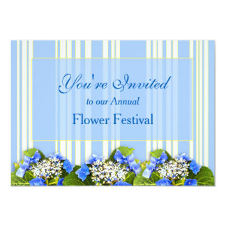 BLUE HYDRANGEA MULTI-PURPOSE  INVITATION