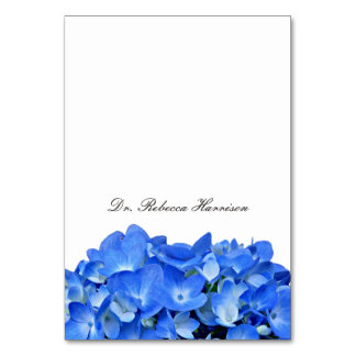 Blue Hydrangea Name Template Place Cards Table Cards